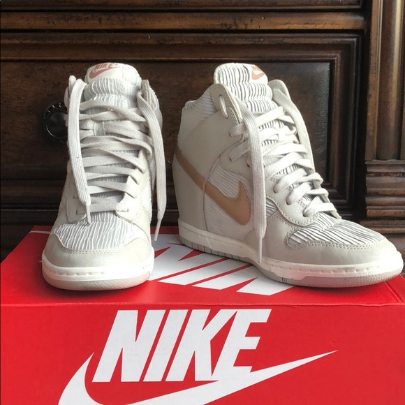 Nike Dunk Sky Hi gray/white/rose gold